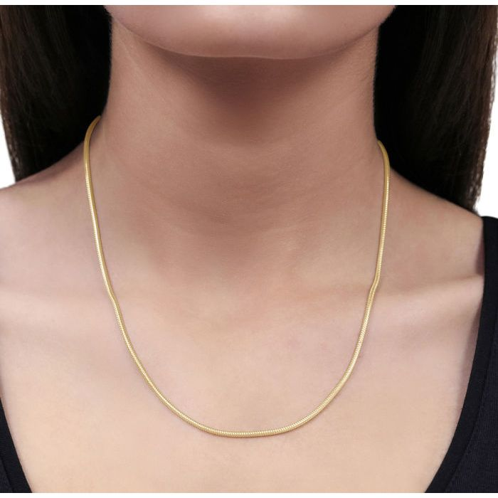 9ct Yellow Gold Plated 1.9mm Snake Chain Necklace
