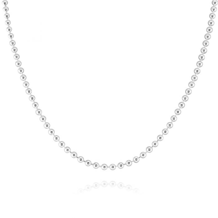 Sterling Silver 3mm Ball Bead Chain Necklace