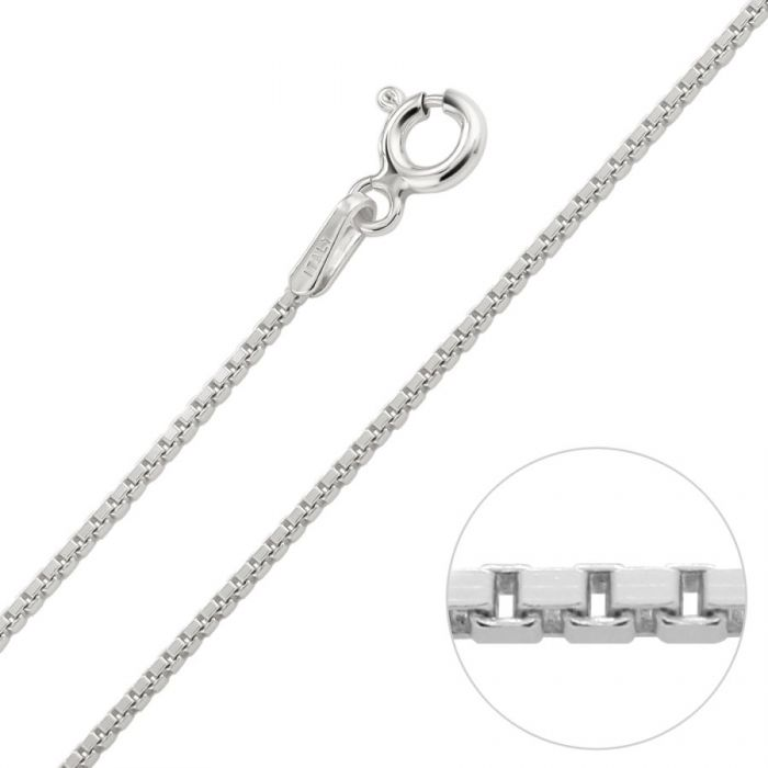 69da0a997e315 Sterling Silver 1mm Box Chain Necklace