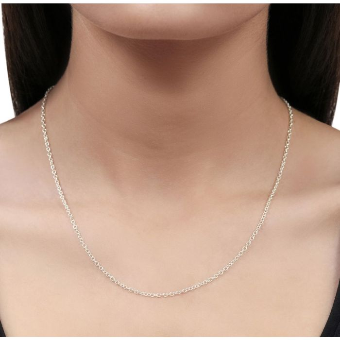 Sterling Silver 2mm Cable Trace Chain Necklace