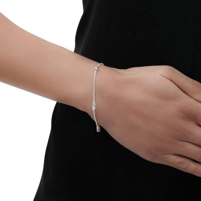Sterling Silver Multi Beaded Popcorn Bracelet 7
