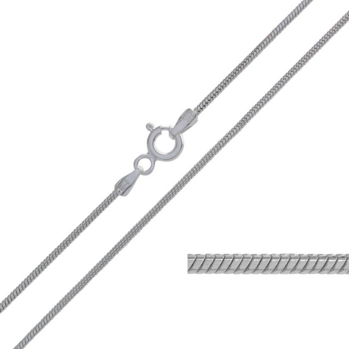 Sterling Silver 1.2mm Snake Chain Necklace