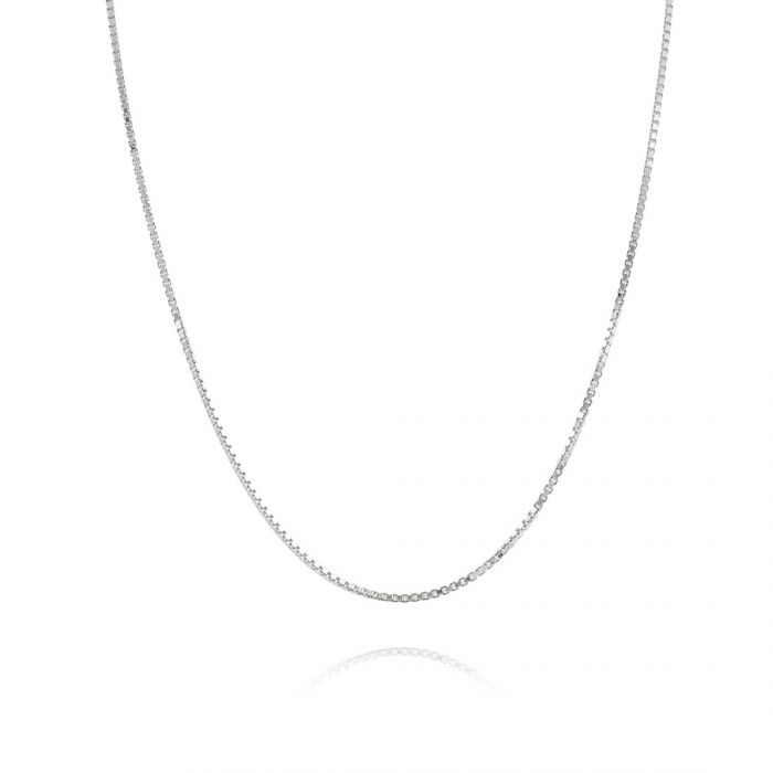 Sterling Silver 1mm Box Chain Necklace
