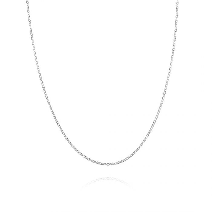 Sterling Silver 1.2mm Diamond Cut Cable Trace Chain Necklace