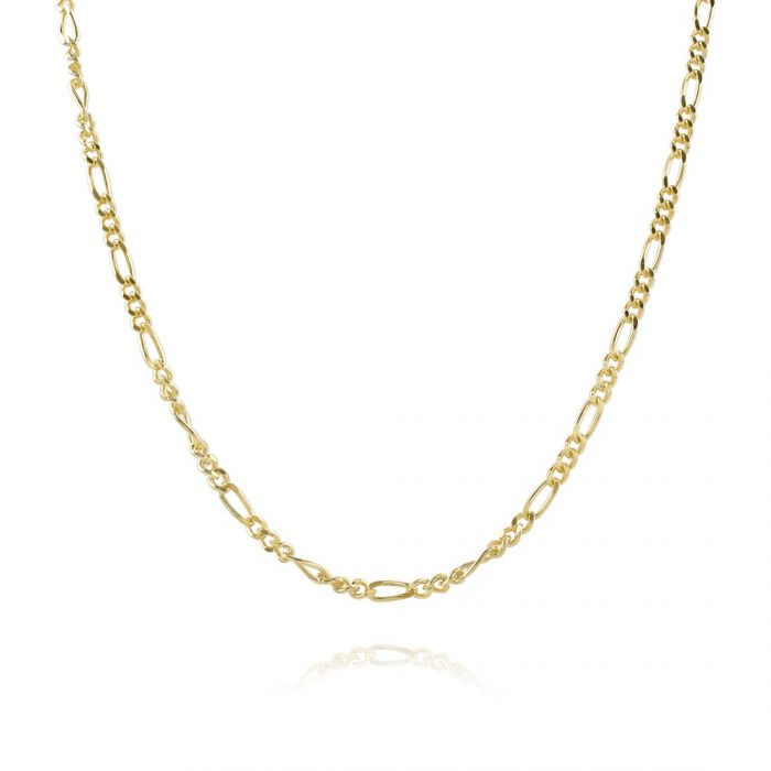Children's 9ct Yellow Gold plated 2mm Figaro Chain 16