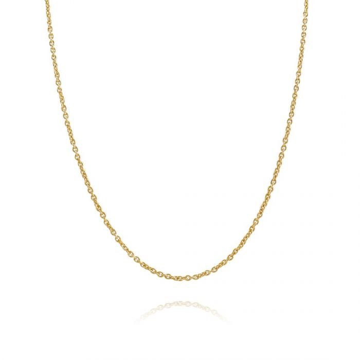 9ct Yellow Gold plated 1.5mm Cable Trace Chain Necklace