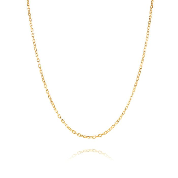 9ct Yellow Gold Plated 1.5mm Diamond Cut Cable Trace Chain Necklace