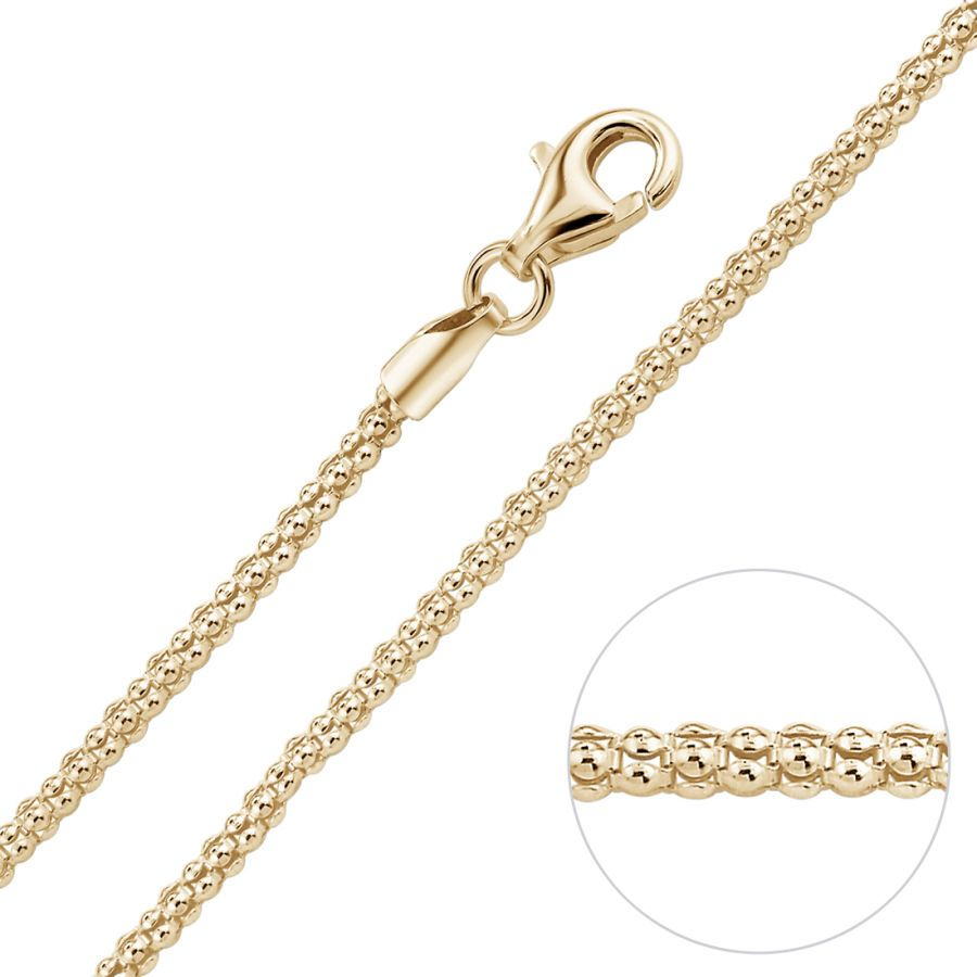 new 9ct yellow gold belcher linked chain 18inch 45cm made in italy 1.3mm thick
