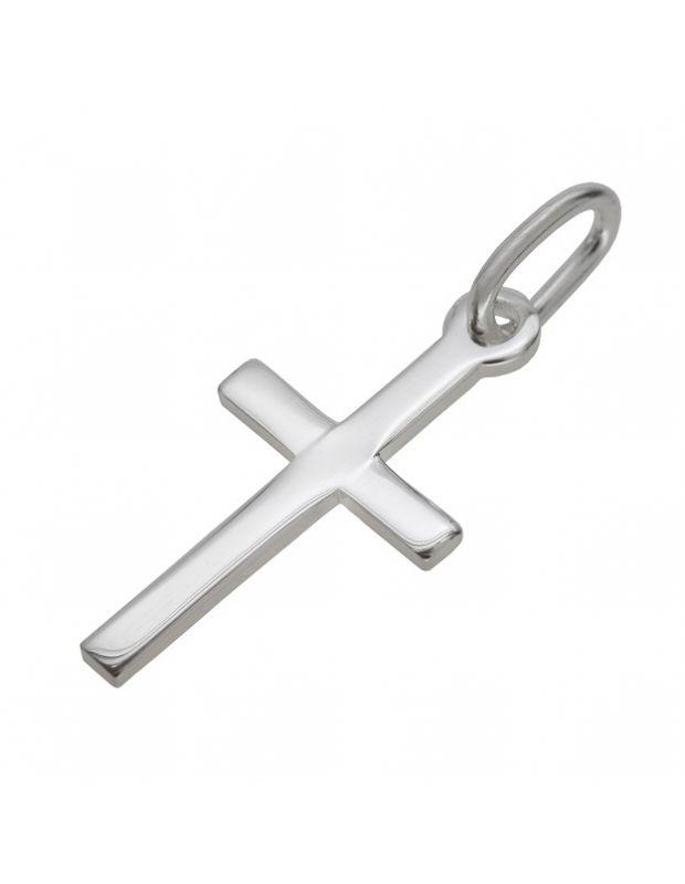 Sterling silver chain for men mens st christopher pendant sterling silver polished plain medium cross pendant aloadofball Choice Image