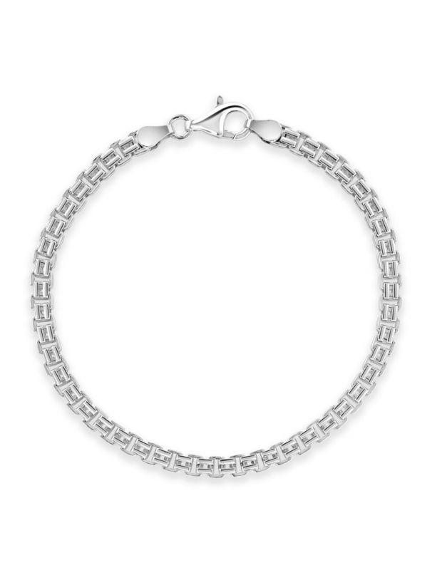 Sterling Silver 3.9mm Double Box Bracelet Diamond Cut