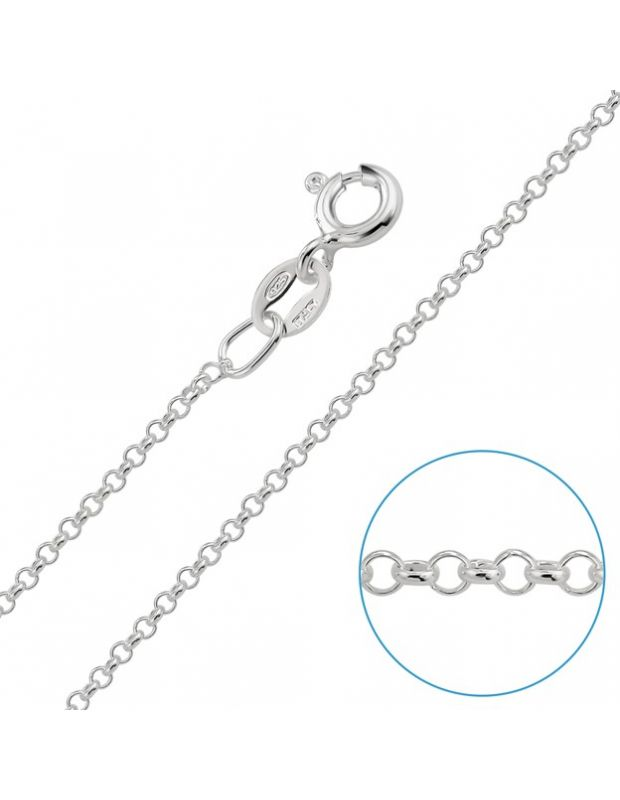 "Children's Sterling Silver 1.2mm Fine Belcher Chain 14"" Inch"