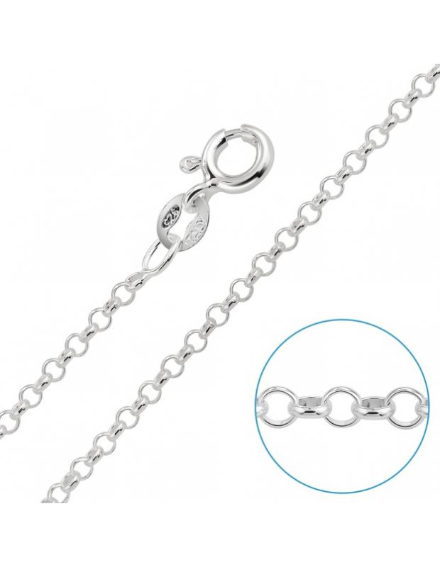 "Children's Sterling Silver 2mm Belcher Rolo Chain 14"" Inch"