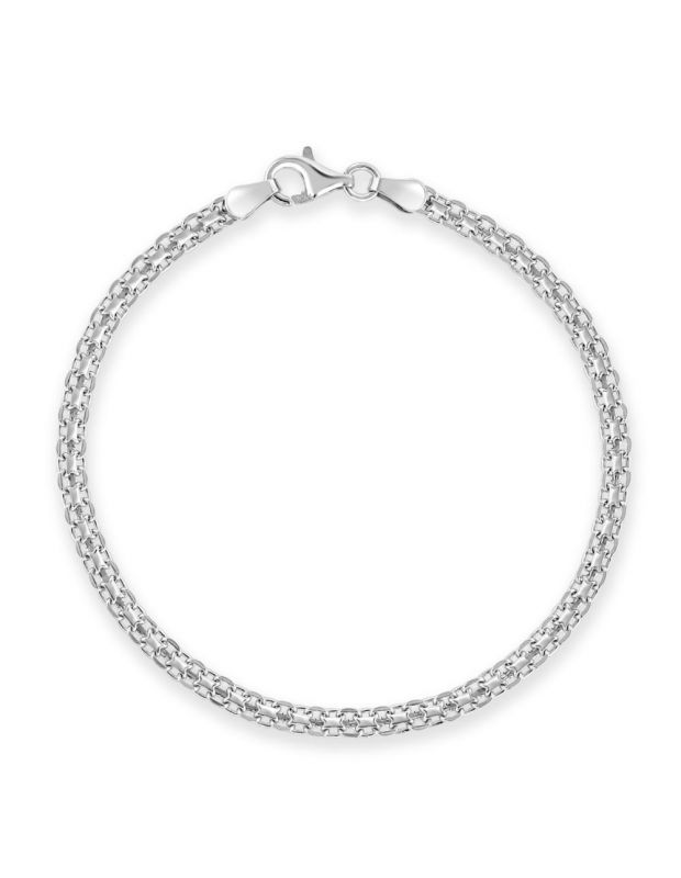 Sterling Silver 3mm Bismark Bracelet