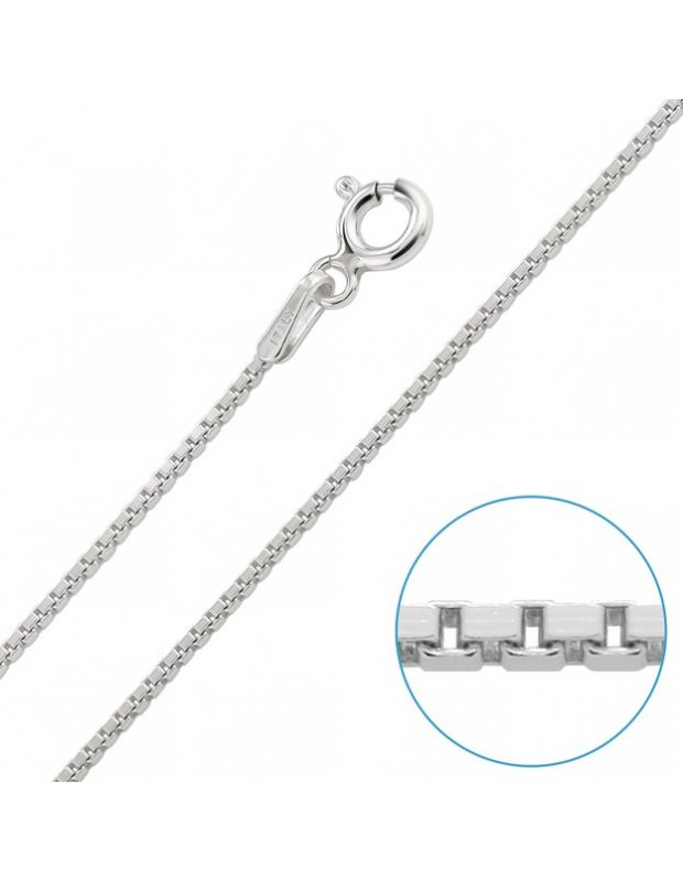 "Children's Sterling Silver 1mm Box Chain 16"" Inch"
