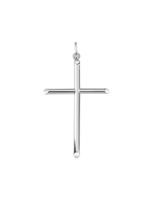 Sterling Silver Large Plain Cross Pendant