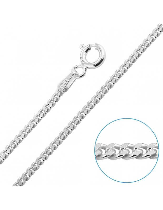 Sterling Silver 2mm Diamond Cut Curb Chain