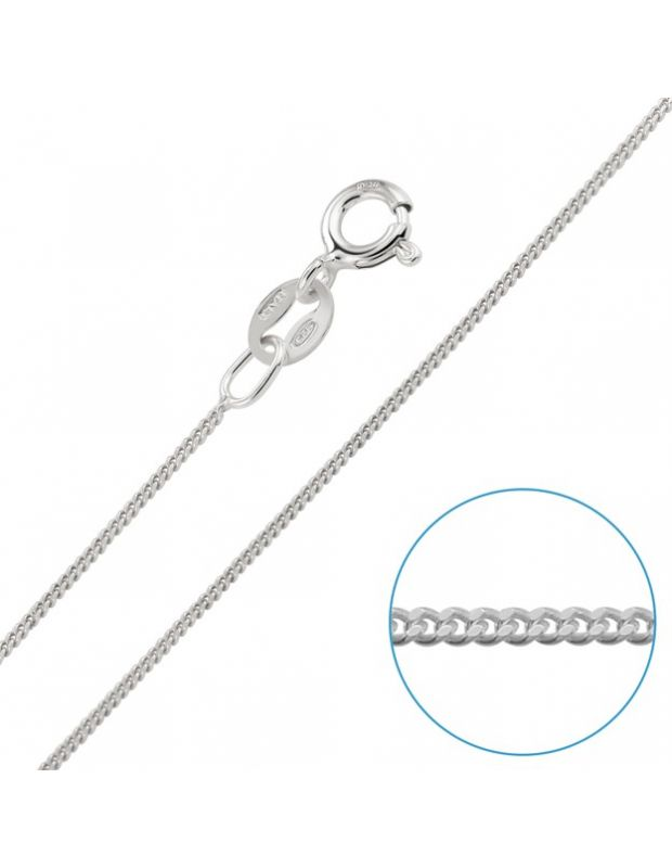 Sterling Silver 0.8mm Fine Curb Chain