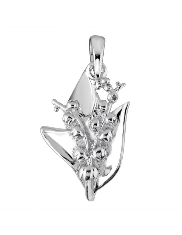 Sterling Silver Tiger Lily May Flower Pendant