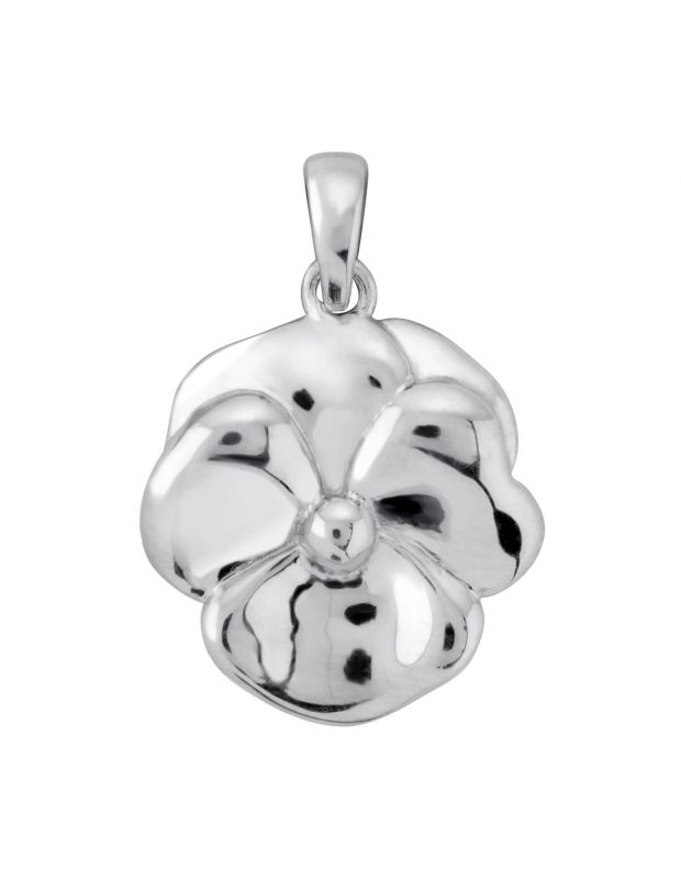 Sterling Silver Violet February Flower Pendant