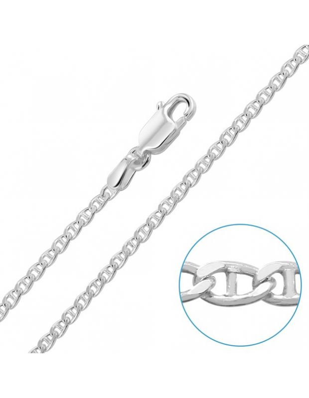 "Children's Sterling Silver 2mm Marina Chain 16"" Inch"