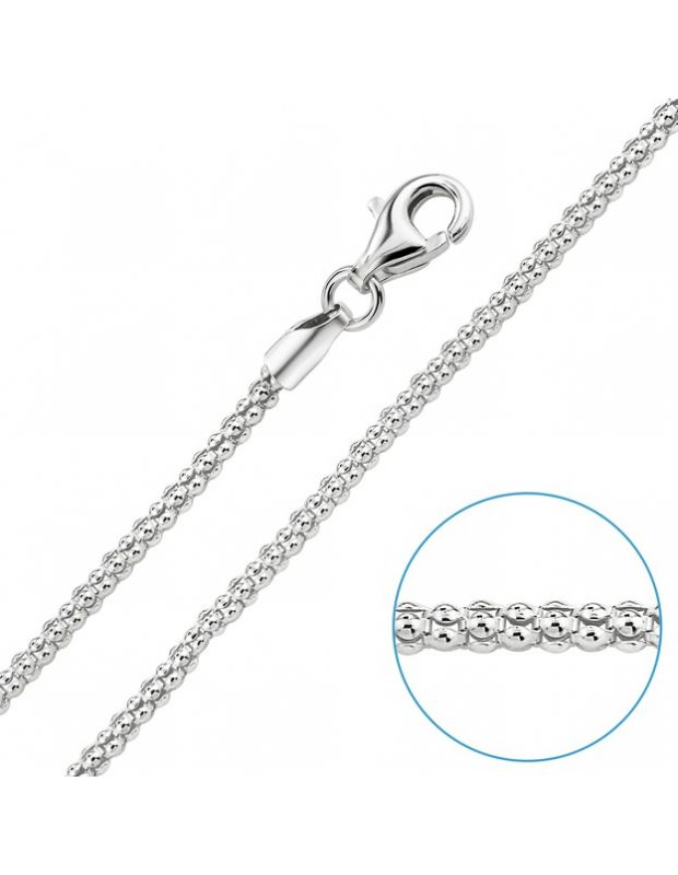 Sterling Silver 2mm Popcorn Chain