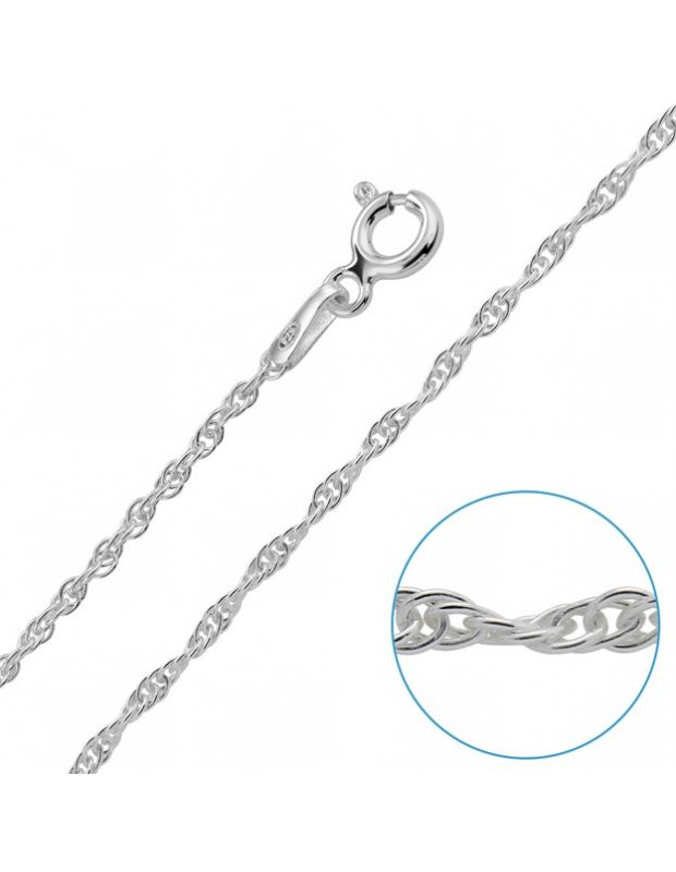 "Children's Sterling Silver 1.5mm Prince Of Wales Chain 14"" Inch"