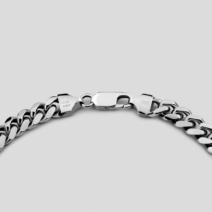 Sterling Silver 7mm Diamond Cut Cuban Chain Necklace