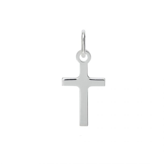 Sterling Silver Polished Plain Small Cross Pendant