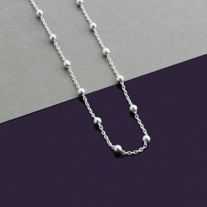 Sterling Silver Medium Polished Number 20 on a Sterling Silver Cable Snake or Ball Chain Necklace