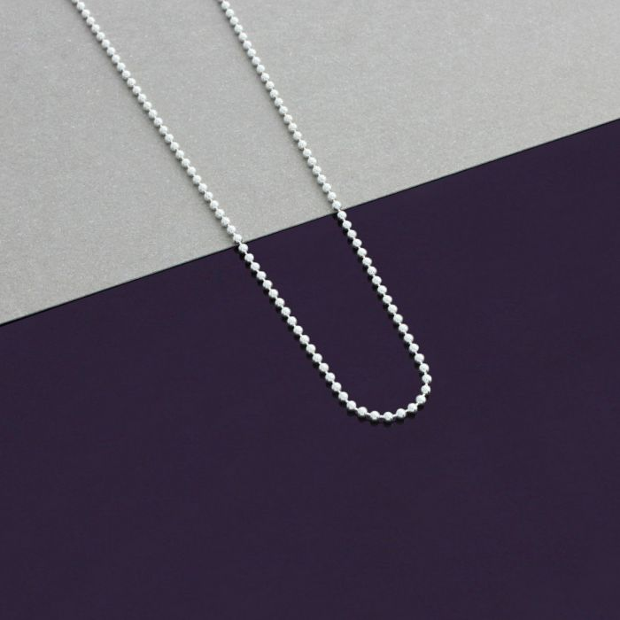 Sterling Silver 1.2mm Ball Bead Chain Necklace