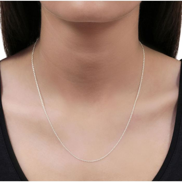 Sterling Silver 1.5mm Cable Trace Chain Necklace