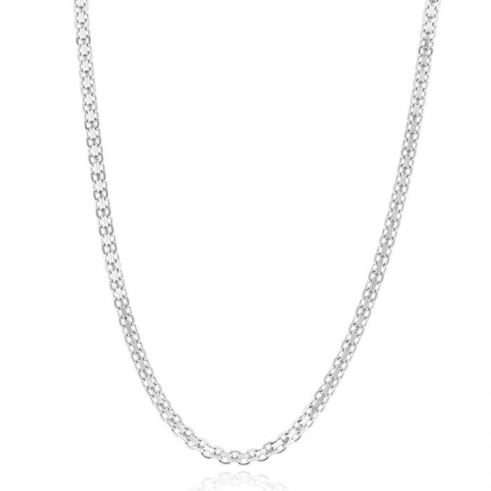 Sterling Silver 2.4mm Bismark Chain Necklace