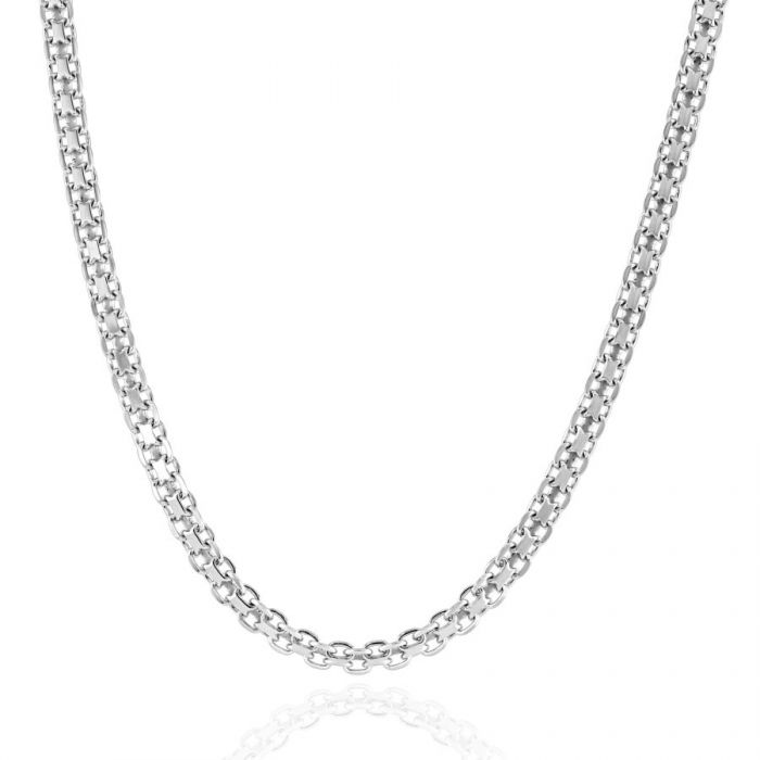 Sterling Silver 3mm Bismark Chain Necklace