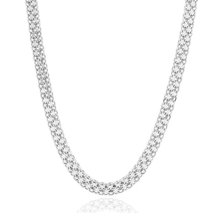 Sterling Silver 4.4mm Bismark Chain Necklace