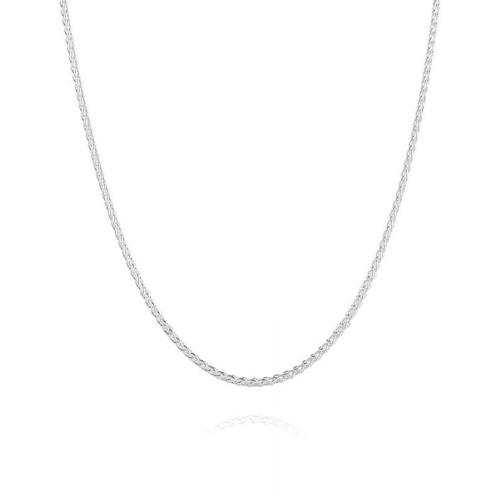 Sterling Silver 1.9mm Spiga Wheat Chain Necklace