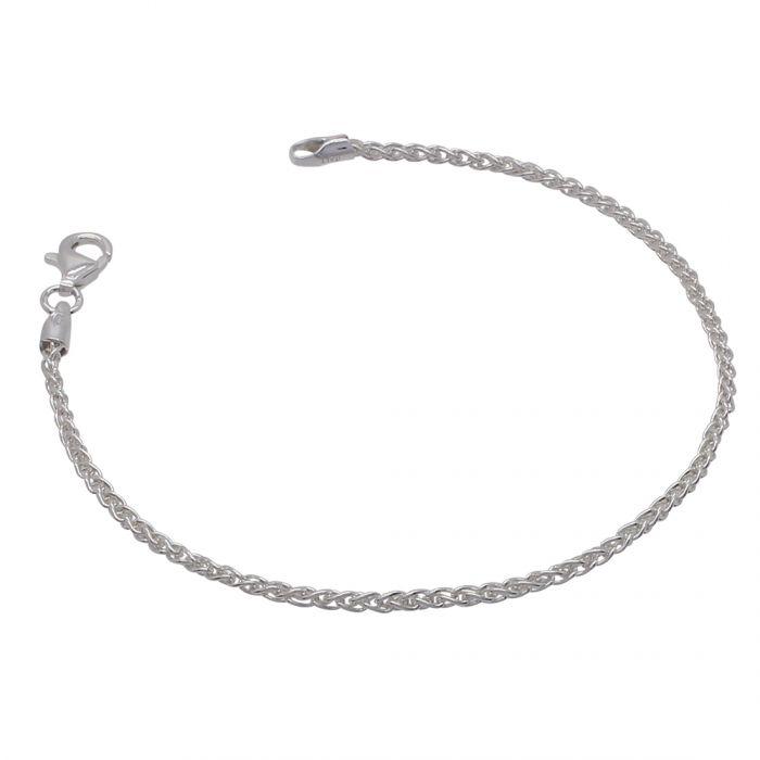 Sterling Silver 1.9mm Spiga Wheat Link Bracelet