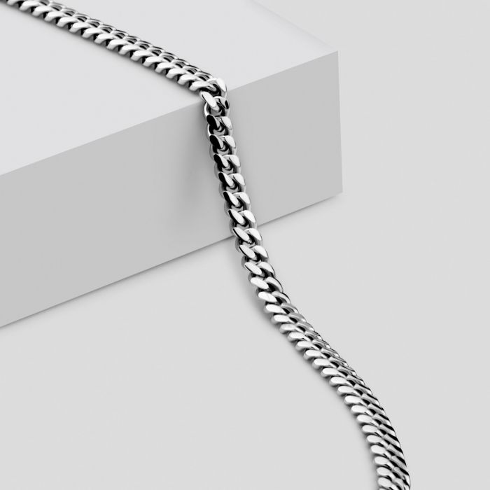 Sterling Silver 2.7mm Diamond Cut Cuban Chain Necklace
