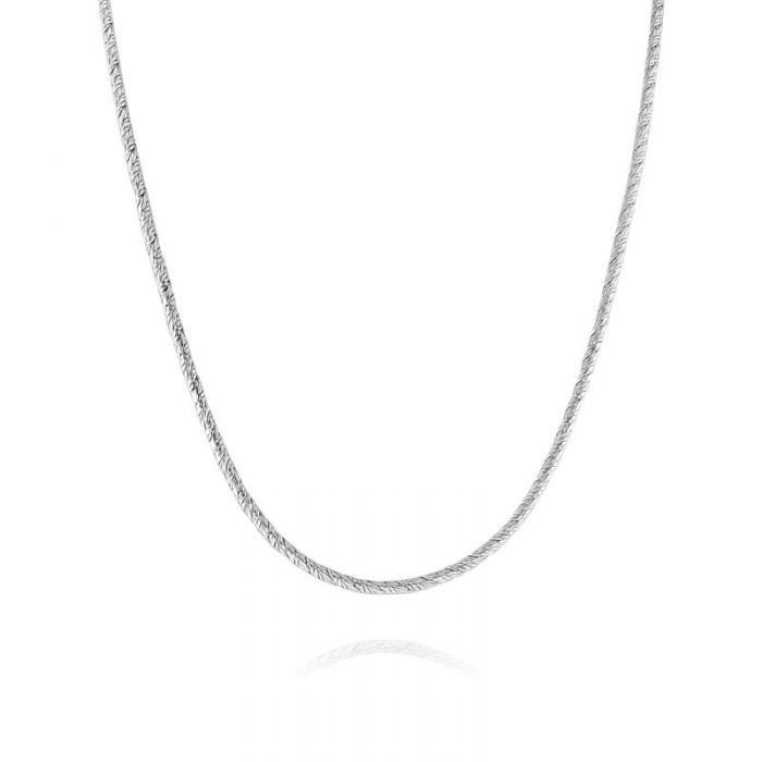 Sterling Silver 2mm Twisted Round Foxtail Chain Necklace
