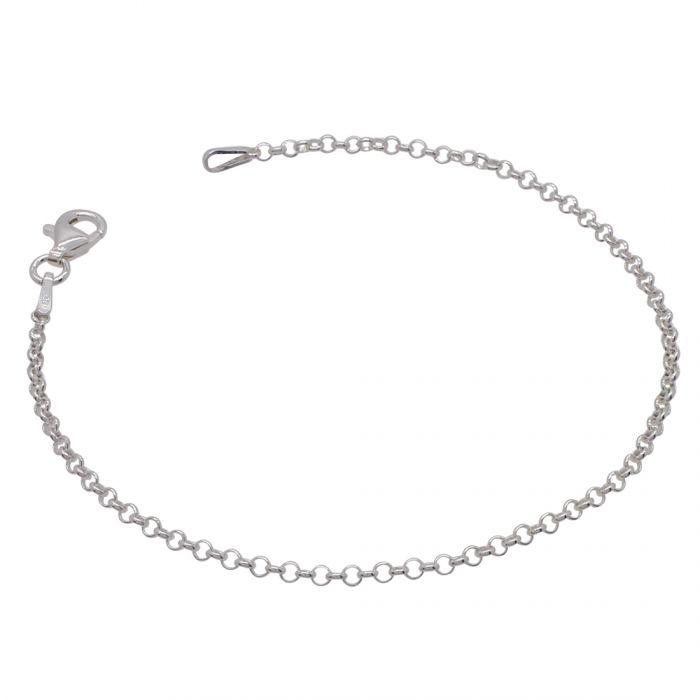 Sterling Silver 2mm Belcher Link Bracelet