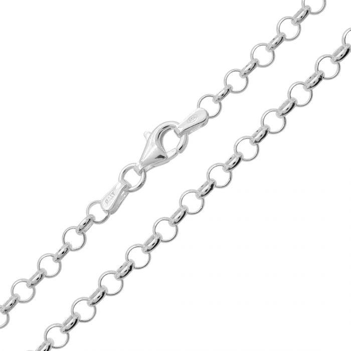 Sterling Silver 3.4mm Belcher Link Bracelet