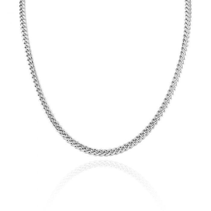 Sterling Silver 4.9mm Diamond Cut Cuban Chain Necklace