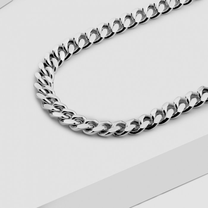 Sterling Silver 5.6mm Diamond Cut Cuban Chain Necklace