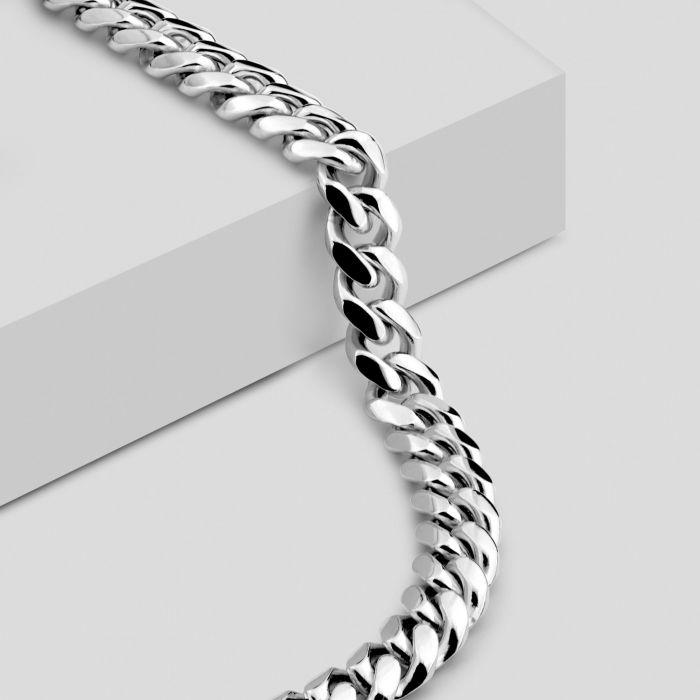 Sterling Silver 6.3mm Diamond Cut Cuban Chain Necklace