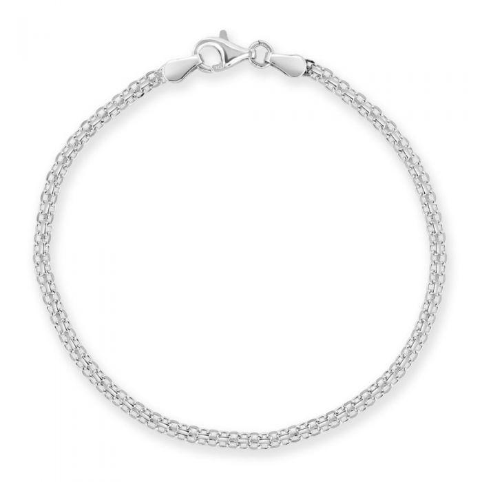 Sterling Silver 2.4mm Bismark Bracelet