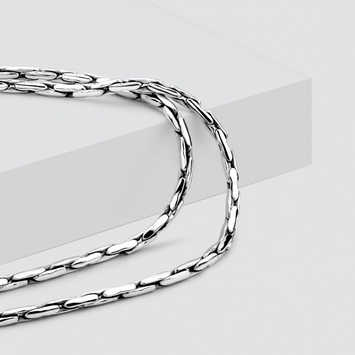 Sterling Silver 2.1mm Rounded Cardano Chain Necklace