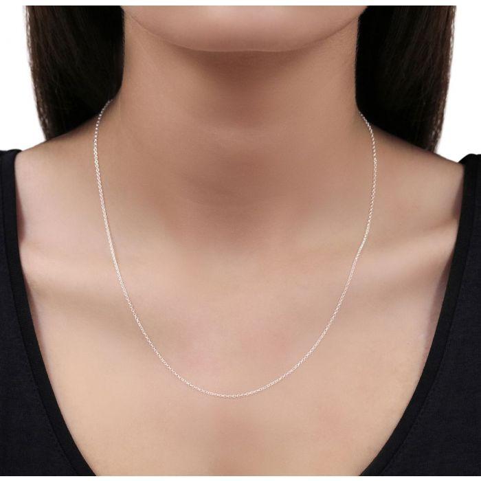 Sterling Silver 1.2mm Fine Belcher Chain Necklace