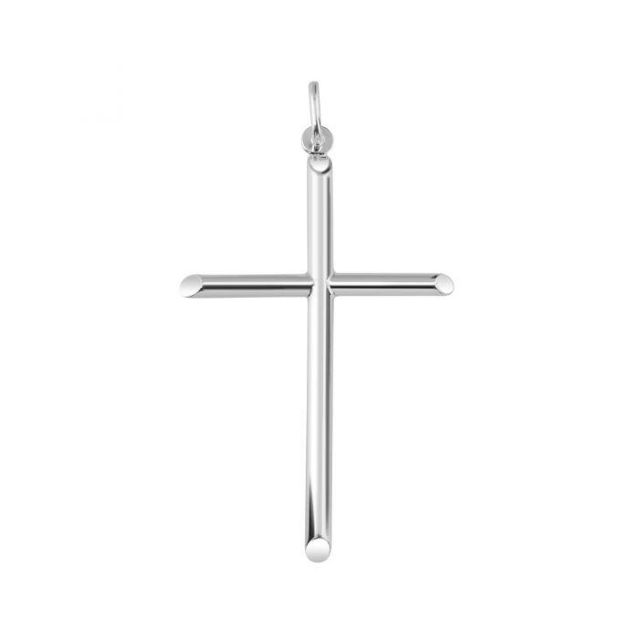 Sterling Silver Large Plain Cross Pendant