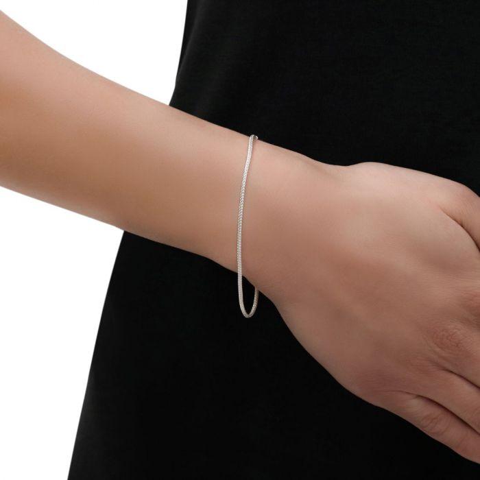 Sterling Silver 1.5mm Foxtail Bracelet
