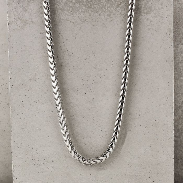 Sterling Silver 3mm Franco Chain Necklace