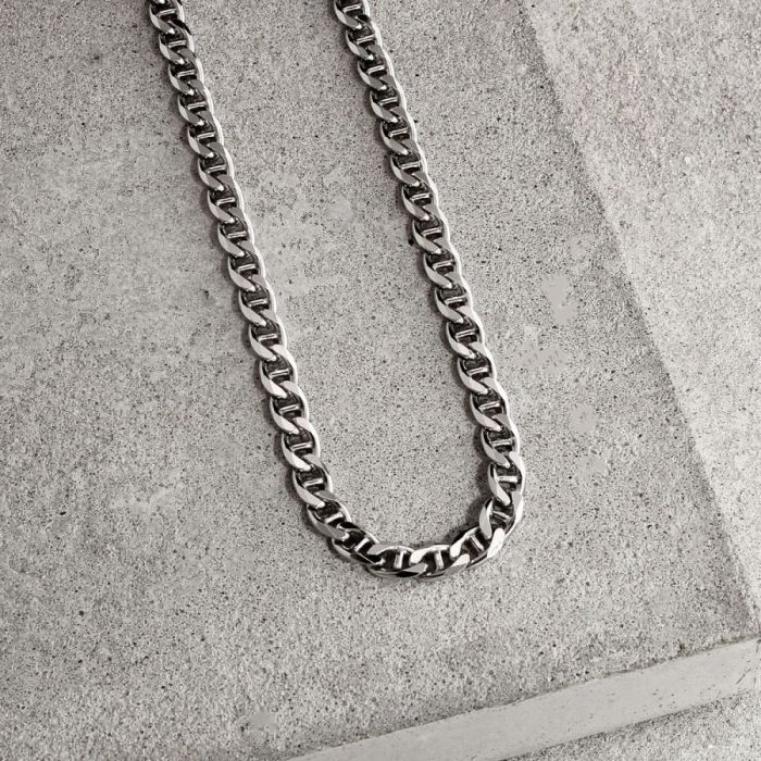 Sterling Silver 4.6mm Diamond Cut Marina Chain Necklace